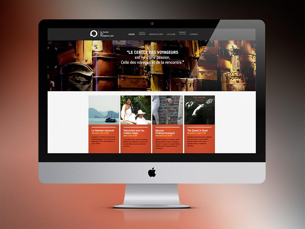 Le Cercle des Voyageurs website